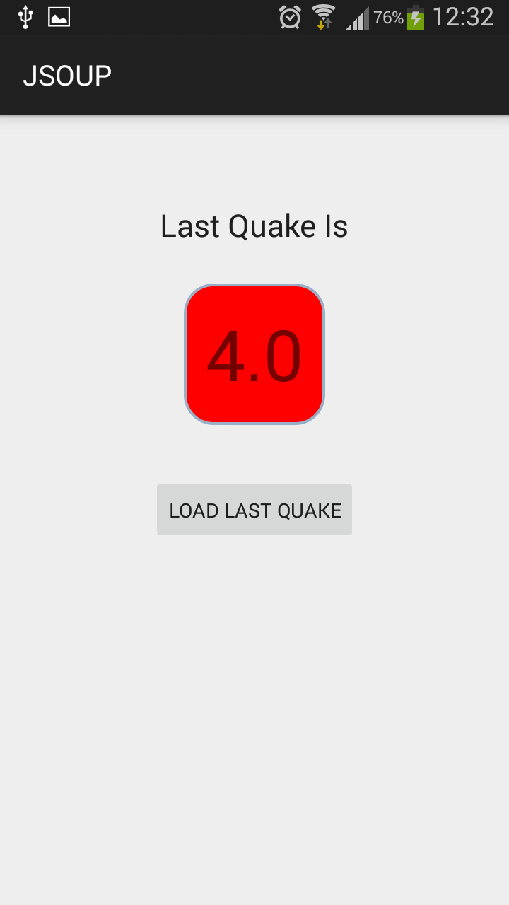 Simple EarthQuake APP in Android Using JSOUP | DEV'S BLOG