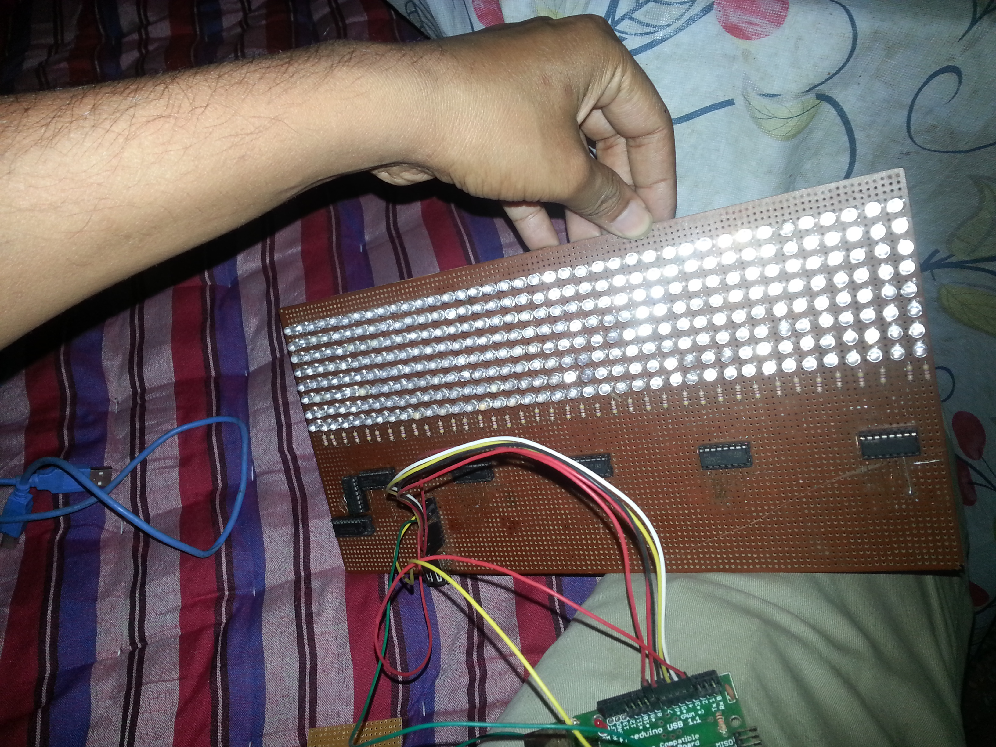 8x40 Led Matrix Calendar Clock With Remote Devs Blog Array Wiring Diagram Step 2 Board And Schematic